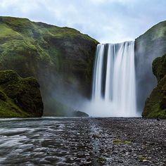 Powerful and beautiful Skógafoss in Southern Iceland
