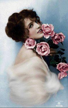 дама с розами, предпросмотр