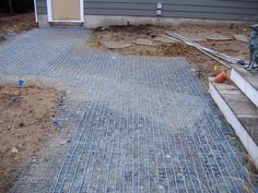 Possibly under a green driveway warmzone heated driveway with heated walkway if you are thinking about installing a new walkway or driveway you may want to consider installing a heating system under the pavers solutioingenieria Gallery
