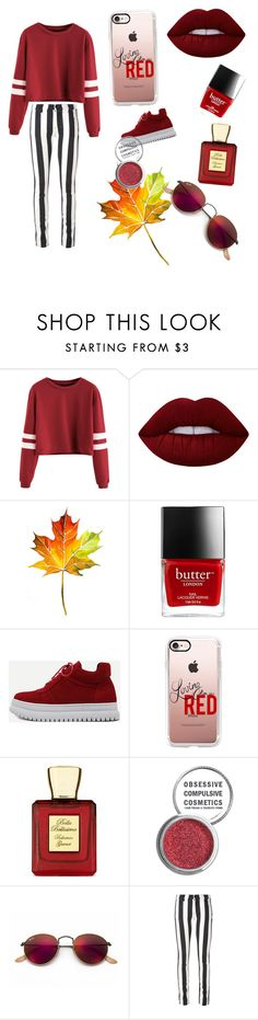 """❤️❤️❤️"" by jamillakin on Polyvore featuring mode, Lime Crime, WithChic, Casetify, Bella Bellissima, Obsessive Compulsive Cosmetics, Ray-Ban en Off-White"