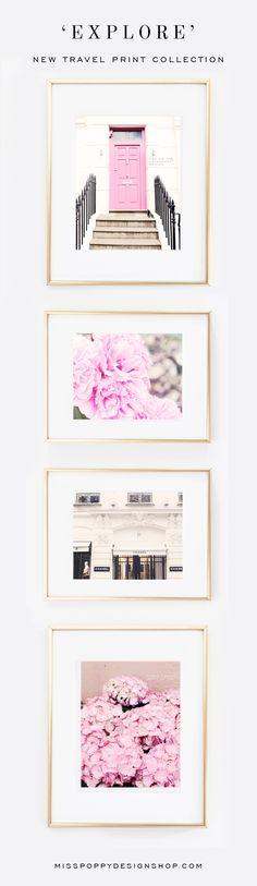 'EXPLORE' Travel Print Collection / Paris / London / Notting Hill / Portobello Road / Pink Door / Paris / 31 Rue Cambon / Wall Art / Photo / Photographic @ www.misspoppydesignshop.com