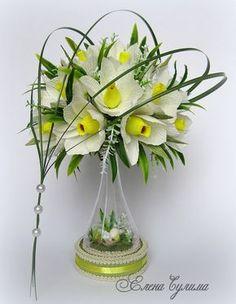 Новини Candy Flowers, Crepe Paper Flowers, Diy Flowers, Colorful Flowers, Beautiful Flowers, Bouquet Box, Paper Bouquet, Candy Bouquet, Paper Flower Arrangements