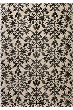 different versions of black and white rugs...