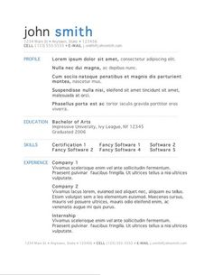 download resume templates word