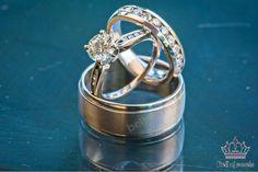 Diamond Trio Set His Hers Matching Engagement Ring Wedding Band 10K White Gold  #Beijojewels