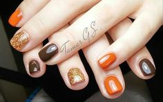 50 Fall Nail Art ideas and Autumn Color Combos to try on this season - Hike n Di. - - 50 Fall Nail Art ideas and Autumn Color Combos to try on this season - Hike n Dip Fall Gel Nails, Autumn Nails, Spring Nails, Fall Nail Art Autumn, Fall Manicure, Summer Nails, Cute Nails, Pretty Nails, My Nails