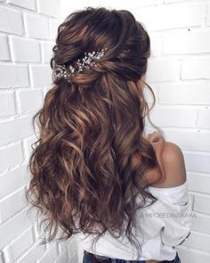 Long wedding hairstyles 2019 haircut for men long we.-Long wedding hairstyles 2019 haircut for men long wedding hairstyles Long wedding hairstyles 2019 haircut for men long wedding hairstyles 2019 – – – - Long Bridal Hair, Wedding Hair Down, Wedding Hair And Makeup, Bridal Hair Half Up Medium, Wedding Hairstyles For Long Hair, Bride Hairstyles, Down Hairstyles, Hairstyle Ideas, Hairstyle Wedding Bridesmaid