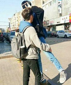 Image about love in Asian gay couple 😆🌈 by Ichikawa tsubaki Park Chanyeol, Baekhyun, Lgbt Couples, Cute Gay Couples, Ulzzang Couple, Ulzzang Boy, Daddy King, Rainbow Boys, Korean Couple