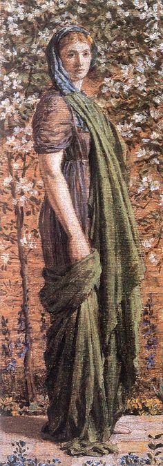 The Athenaeum - A Flower Walk (Albert Joseph Moore, A.R.W.S. - )
