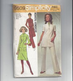 Simplicity 9509 Pattern for Misses' Dress by VictorianWardrobe, $8.00