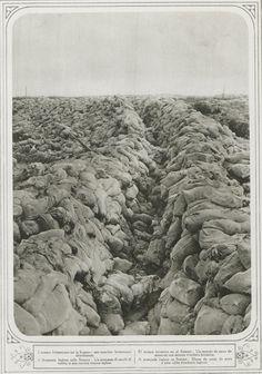 WWI, Oct 1916: Somme, Abandoned British Trench. La Guerre Illustrée via Gallica.
