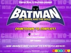 Play Batman Countdown To Conflict Game Online Online Games For Kids, Play Online, Batman Games, Brave And The Bold, Animation Series, Warner Bros, Free Games, Fun, Hilarious