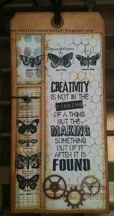 I used Tim Holtz background stamps to create the water coloured background  I even got busy with the sewing machine!!