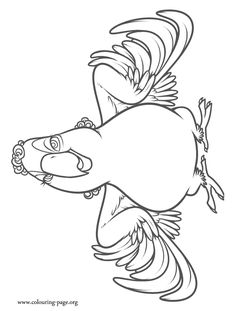 Have fun with this awesome picture of Mimi. Come check out and enjoy this free Rio 2 movie coloring page! Pattern Coloring Pages, Adult Coloring Book Pages, Disney Coloring Pages, Colouring Pages, Coloring Sheets, Coloring Books, Flower Neck Tattoo, Cartoon Drawings, Art Drawings