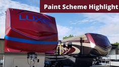 Check out this video of 2 very different paint schemes here at Luxe Luxury Fifth Wheels Luxury Fifth Wheel, Fifth Wheel Toy Haulers, Paint Schemes, Wheels, Painting, Check, Paint Color Schemes, Painting Art, Paintings