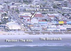 The Pavilion Old Boardwalk And Amut Park On Strip Myrtle Beach South Carolina