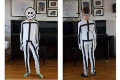 Strichmännchen - ein last minute Kostüm