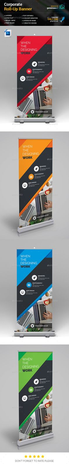 #Roll-Up - Signage Print Templates Download here: https://graphicriver.net/item/rollup/18341260?ref=classicdesignp