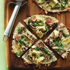Steak & Wild Mushroom Pizzettes (Click Pic for Recipe) I completely swear by CLEAN eating!! Follow my blog  To INSANITY and back....  One Girls Journey to Fitness, Health, & Self Discovery.... http://mmorris.webs.com