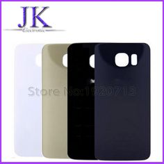 2.18$  Know more - For Samsung Galaxy S6 G920 G920F Housing Back Glass Phone Rear Cover Battery Door With Logo Sticker white gold blue   #magazineonlinebeautiful