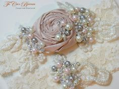 Wedding Garter Set ELEGANCE Design 3 by HelenaNoelleCouture, $95.00