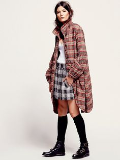 Free People - Plaid Bell Sleeve Jacket - my new fall coat.