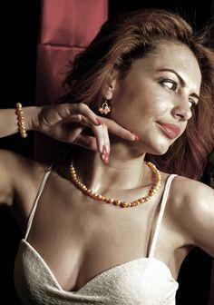 Illia - Set bijuterii din perle de apa dulce