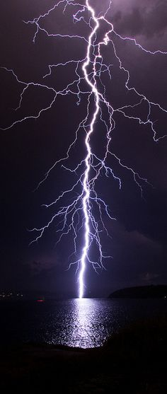 Lightning Strike - Sydney Thunderstorm 8th April 2012