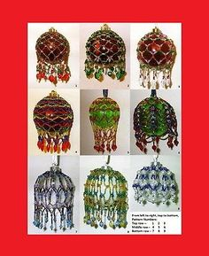 Beaded Christmas Ornament Cover Patterns -- (9) Nine Beading Tutorials  -- .pdf