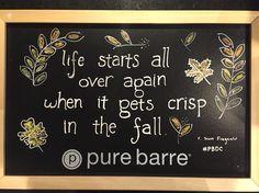 Chalk quote - F. Scott Fitzgerald