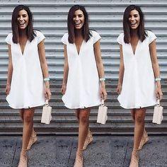 Womens Chiffon Mini Dress V Neck Loose Tunic Long Tops Beach Sundress