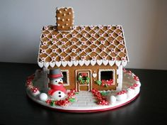 so sweet! Gingerbread Christmas Decor, Candy Land Christmas, Gingerbread House Designs, Christmas Food Gifts, Easy Christmas Crafts, Christmas Baking, Gingerbread Cookies, Christmas Cookies, Gingerbread Houses
