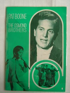 THE OSMOND BROTHERS & PAT BOONE 1969 JAPAN TOUR PROGRAM | eBay
