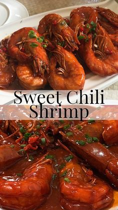 This Sweet Chili Shrimp is Filipino Style and super delicious! Its quick and easy to cook too. You can pair it with lots of steamed rice or Sweet Chili Shrimp Recipe, Filipino Shrimp Recipe, Chili Sauce Recipe, Sweet Chilli Sauce, Filipino Food, Pinoy Food, Filipino Recipes, Filipino Dishes, Prawn Recipes