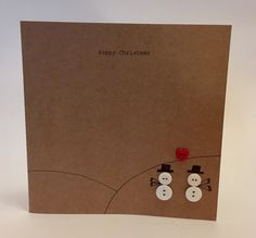 A personal favourite from my Etsy shop https://www.etsy.com/uk/listing/539215737/handmade-snowmen-christmas-card