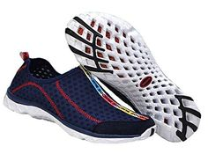 DPO Womens Water Shoes Athletic Exercise Aqua Shoes deep blue 6 US >>> Learn more by visiting the image link.