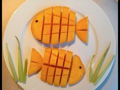 How to Make a Mango Fish! Fruit Art at its cutest!!