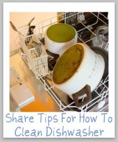 How to Clean Dishwasher.I tried the vinegar and baking soda method and now  my dishes are coming out clean. So happy!