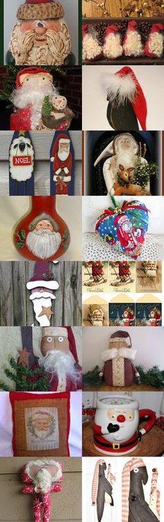 Santa by Becky on Etsy--Pinned with TreasuryPin.com