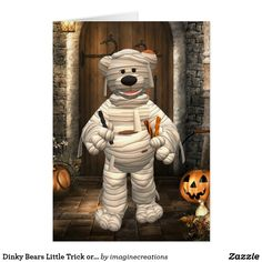 Dinky Bears Little Trick or Treat Mummy Card