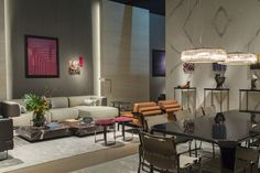 A look at the new Fendi Casa collection displayed at Salone del Mobile during Milan Design Week.