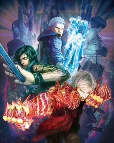 View an image titled 'Alt Box Art by Daigo Ikeno' in our Devil May Cry 5 art gallery featuring official character designs, concept art, and promo pictures.