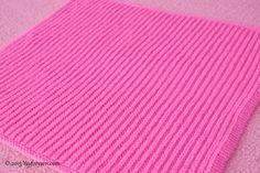 Easy Brioche Baby Blanket - Free Knitting Pattern by YayForYarn - Learn SHORTCUT Brioche Stitch - YouTube