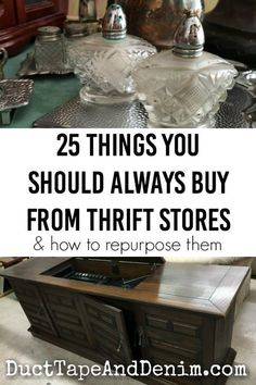 25 Things you should ALWAYS buy from thrift stores and how to repurpose them. | DuctTapeAndDenim.com #thrifting #thriftstores #thriftstorefinds #upcycled #recycled #repurposed