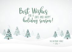 Simple Elegant Holiday Greeting Card For You To Personalize With