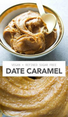 caramel - Amy Le Creations Date Caramel - A healthier caramel sauce! Vegan, gluten free and 5 ingredients.Date Caramel - A healthier caramel sauce! Vegan, gluten free and 5 ingredients. Desserts Végétaliens, Vegan Dessert Recipes, Raw Food Recipes, Gluten Free Recipes, Vegan Cheese Recipes, Vegan Recipes Dates, Quick Recipes, Date Recipes Healthy, Desserts Caramel