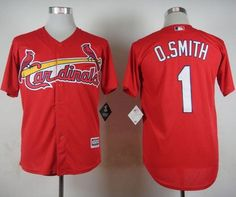 cardinals 1 ozzie smith red cool base stitched mlb jersey