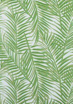 WEST PALM WOVEN, Kiwi on White, W80565, Collection Oasis from Thibaut
