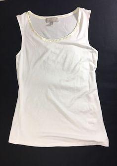 BANANA REPUBLIC Womens Tank Cami Size M / Luxe Touch Ivory Sleeveless Shirt #BananaRepublic #TankCami #Casual
