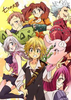 Nanatsu no Taizai • Семь смертных грехов • 7 Seven Deadly Sins Anime, 7 Deadly Sins, Manga Anime, Anime Art, Otaku Anime, Seven Deady Sins, Kamigami No Asobi, 7 Sins, Happy Tree Friends